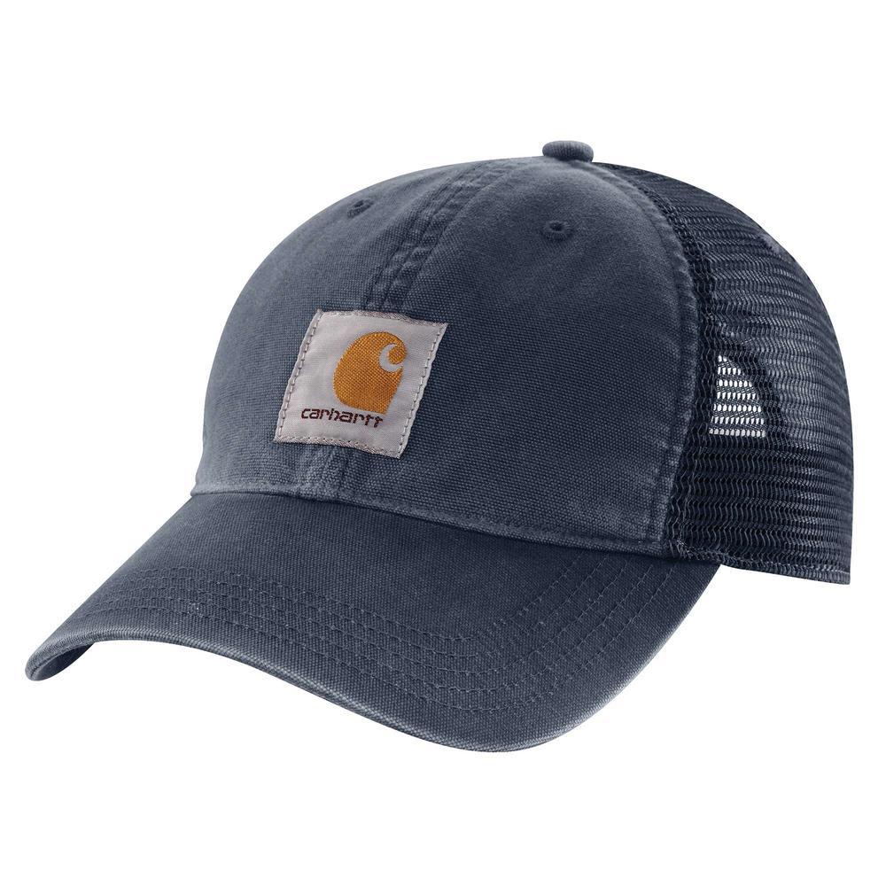 c0e2c3935f9 Carhartt Men s OFA Navy Cotton Buffalo Sandstone Meshback Cap Hat Liner