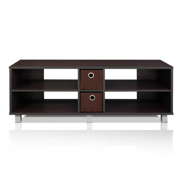 Furinno EX Home Espresso Entertainment Center 10001EX/BR