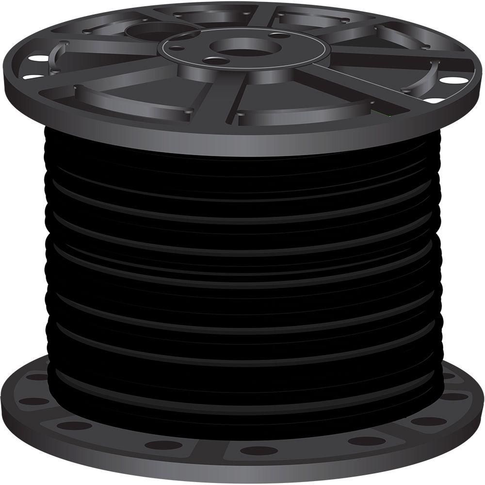 1,000 ft. 1 Black Stranded CU SIMpull THHN Wire