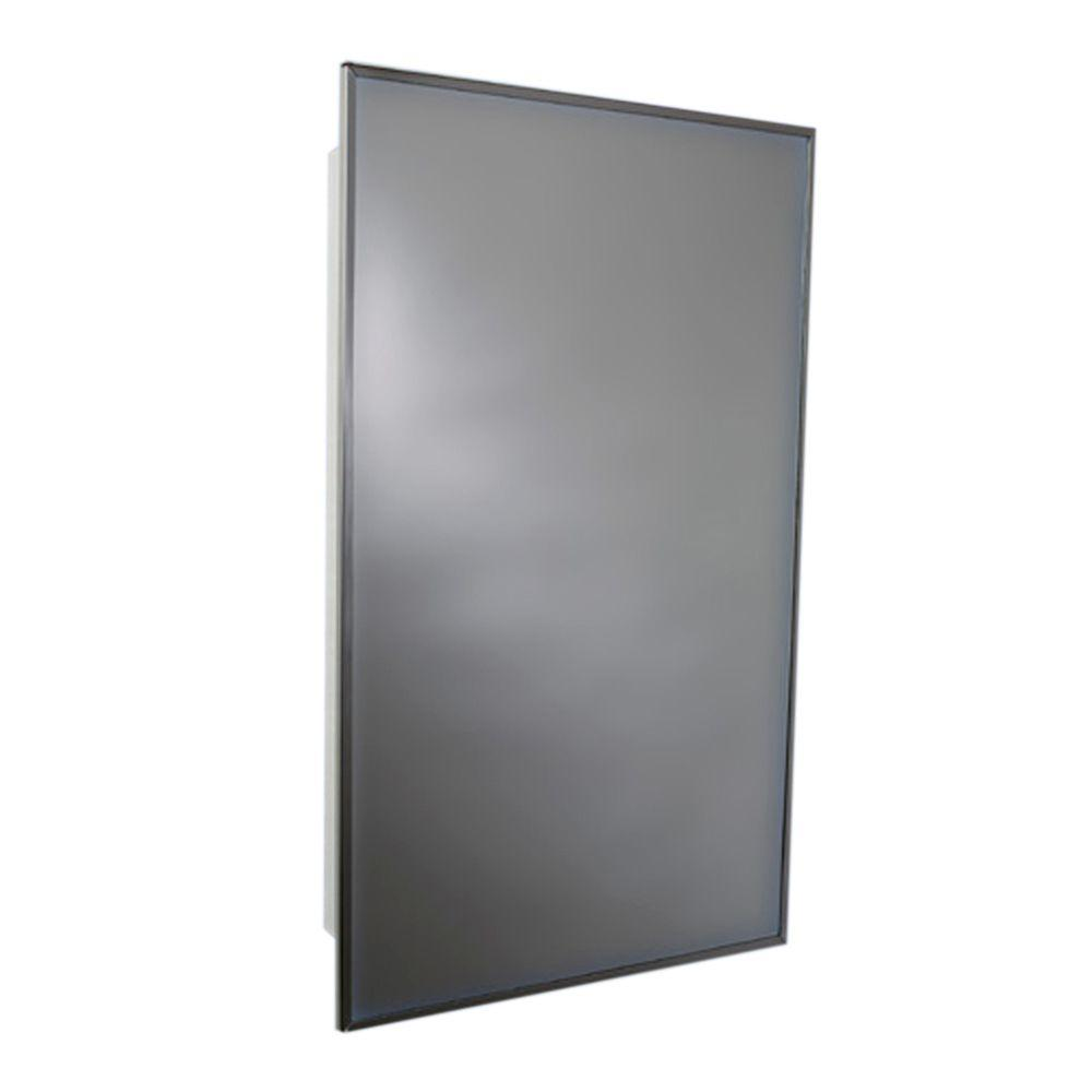 Glacier Bay 16 In. W X 20 In. H X 3 1/4 In. D Framed Recessed Mount  Bathroom Medicine Cabinet In Chrome X2411   The Home Depot