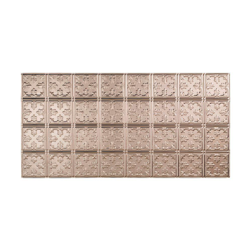 Fasade Traditional 10 - 2 ft. x 4 ft. Glue-up Ceiling Tile in Brushed Nickel