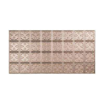 Traditional 10 - 2 ft. x 4 ft. Glue-up Ceiling Tile in Brushed Nickel