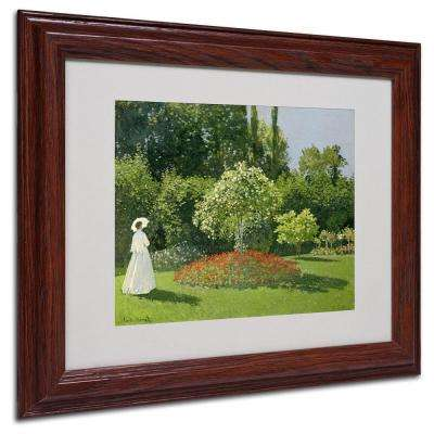 11 in. x 14 in. Jeanne Marie Lecadre in the Garden Matted Brown Framed Wall Art