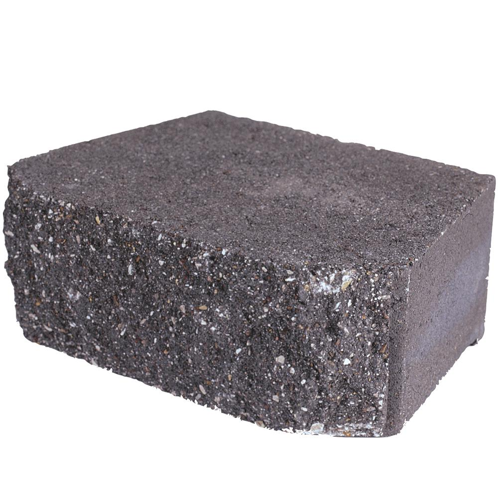 Pavestone 4 in. H x 11.63 in. W x 6.75 in. D Charcoal Retaining Wall Block (144-Pieces/46.6 sq. ft./Pallet)