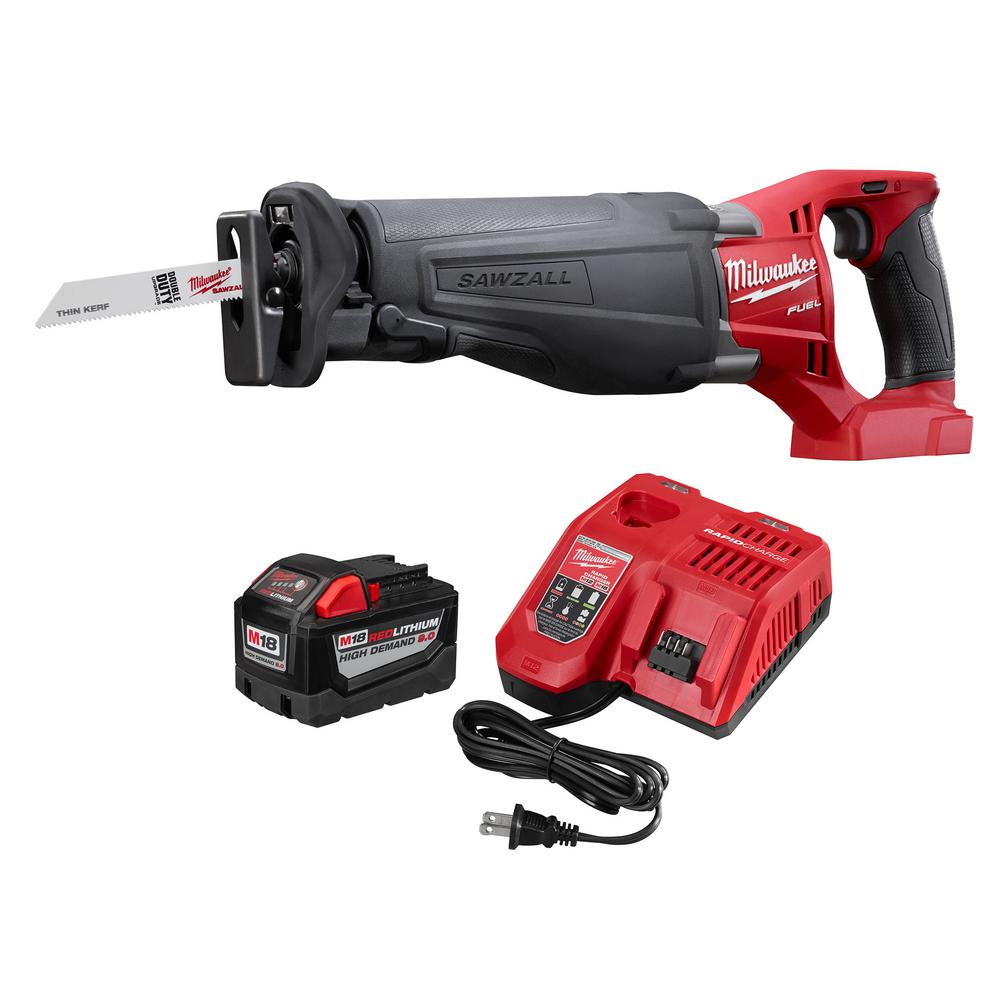 M18 FUEL 18-Volt Lithium-Ion Cordless SAWZALL Reciprocating Saw with M18 9.0Ah