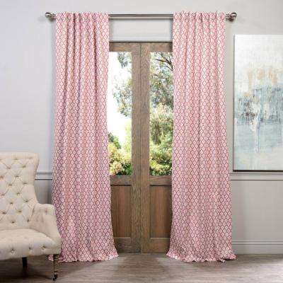 Semi Opaque Casablanca Rose Blackout Curtain 50 In W X 84