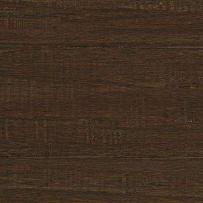 Take Home Sample - Hand Scraped Strand Woven Ceruse Click Bamboo Flooring - 5 in. x 7 in.