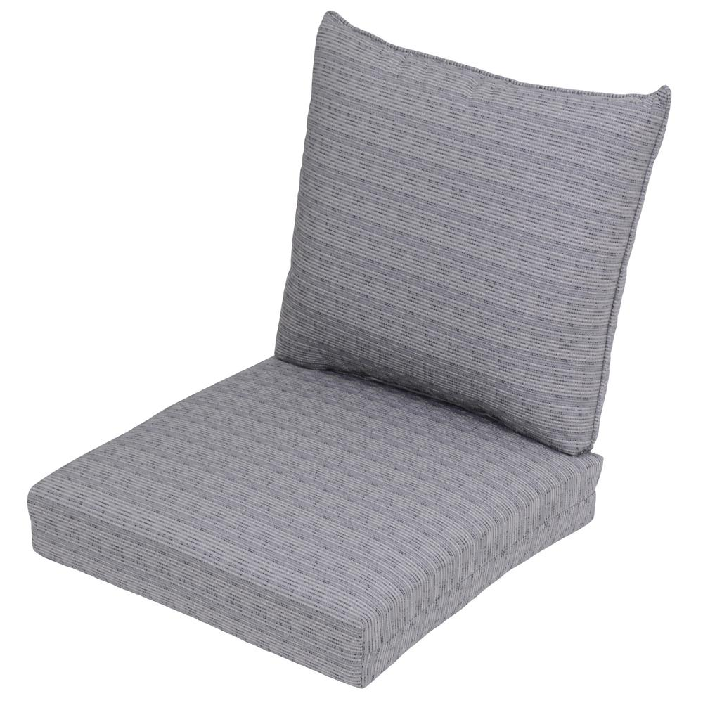 Cement Texture 2-Piece Deep Seating Outdoor Lounge Chair Cushion
