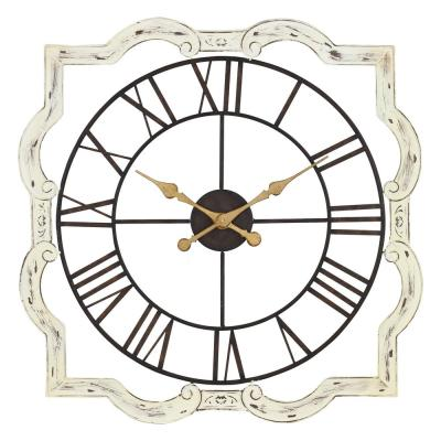 Eloise Distressed Off-White French Country Wall Clock