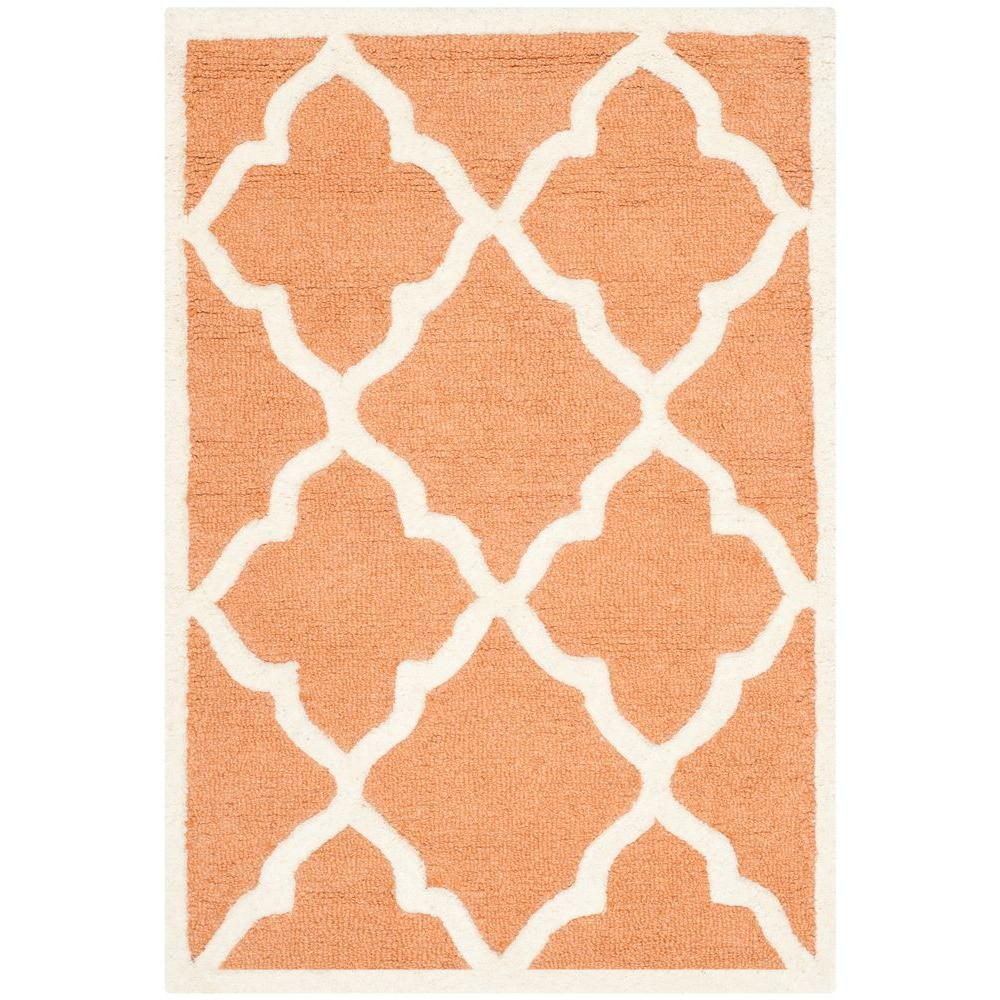 Cambridge Coral/Ivory 2 ft. x 3 ft. Area Rug