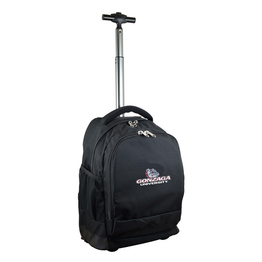 NCAA Gonzaga 19 in. Black Wheeled Premium Backpack