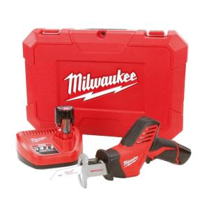 M12 12-Volt Lithium-Ion HACKZALL Cordless Reciprocating Saw with 2 1.5 Ah Batteries, Charger and Hard Case