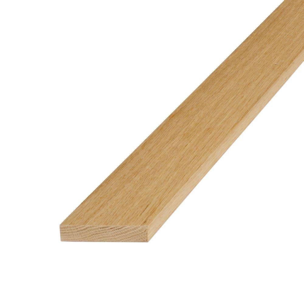 1 in. x 3 in. x 8 ft. S4S Untreated Oak Board