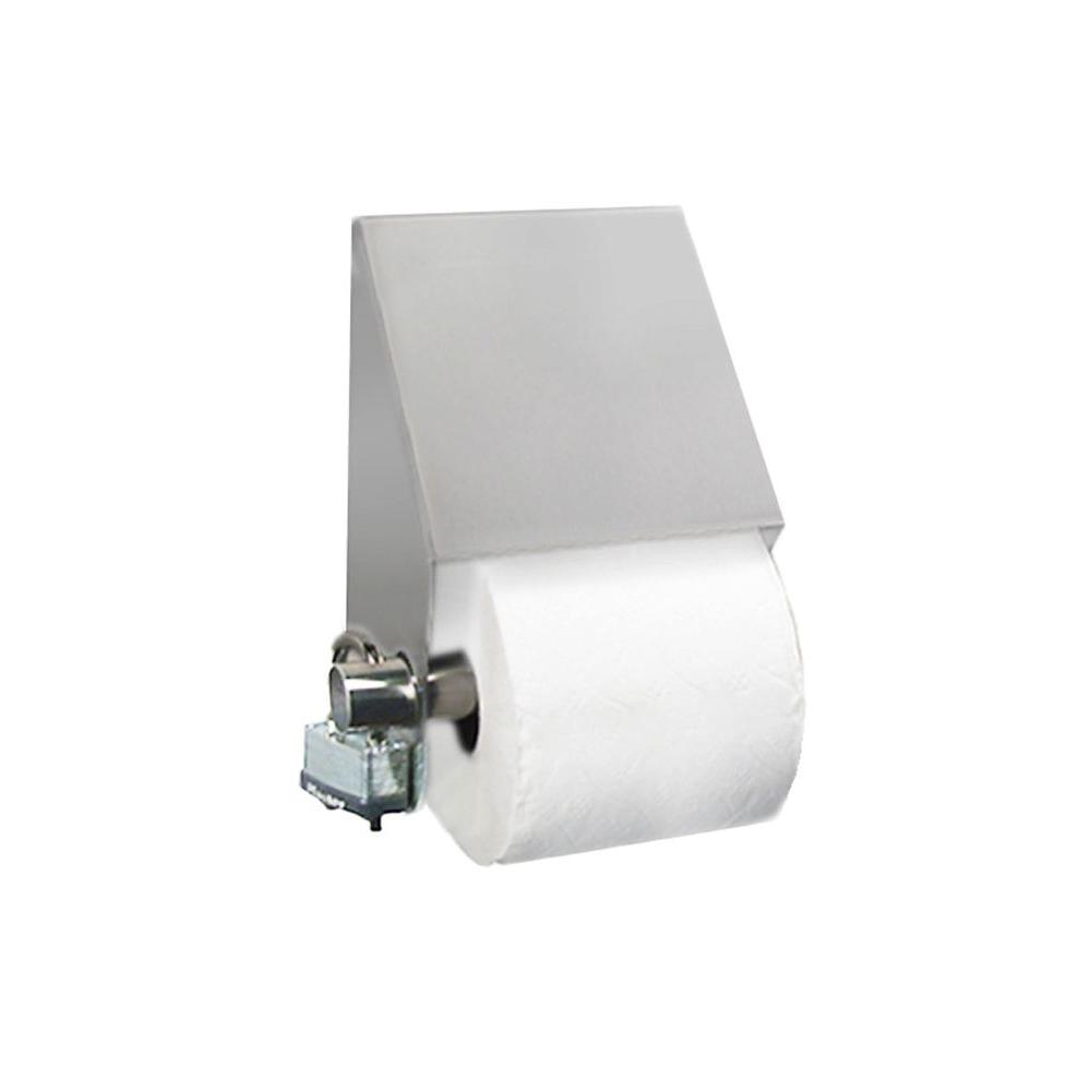 Stainless Solutions Double Post Slant Top Toilet Paper Holder in Steel