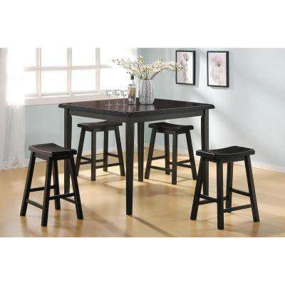 Gaucho 5-Piece Black Bar Table Set