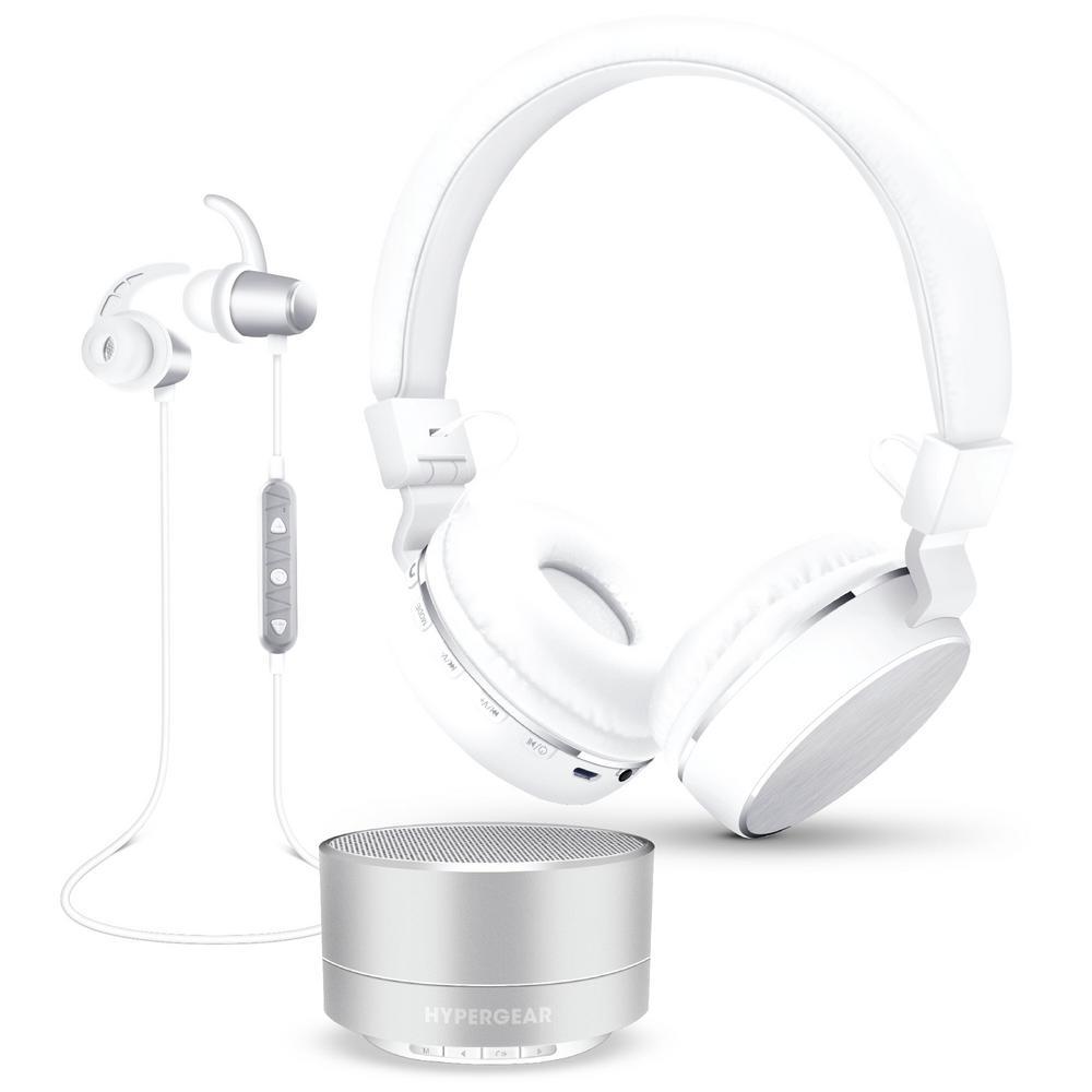 Wireless Headphone Gift Set in Silver