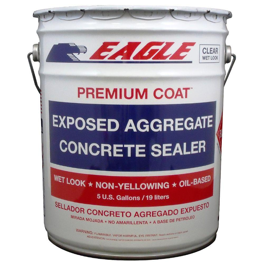 Eagle 5 gal  Premium Coat Clear Wet Look Glossy Solvent-Based Acrylic  Exposed Aggregate Concrete Sealer