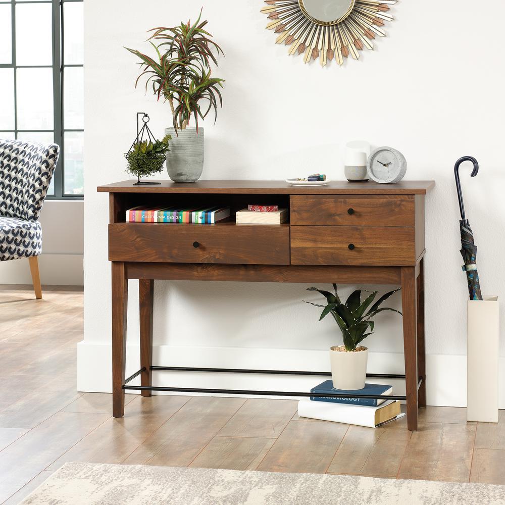 Enjoyable Sauder Harvey Park Grand Walnut Sofa Table 420302 The Home Ncnpc Chair Design For Home Ncnpcorg