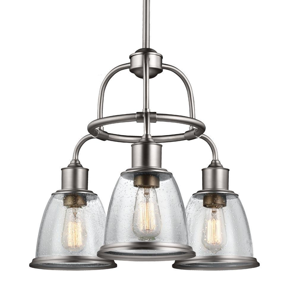 Hobson 3 Light Aged Brass Single Tier Chandelier Shade