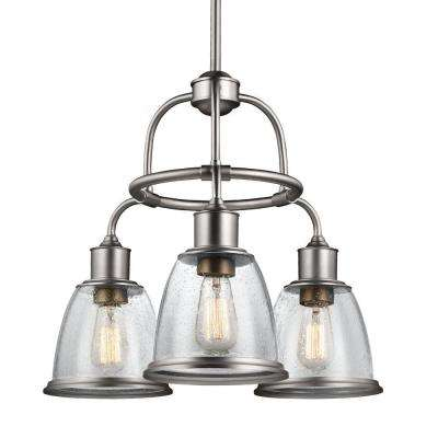 Hobson 3-Light Aged Brass Single-Tier Chandelier Shade