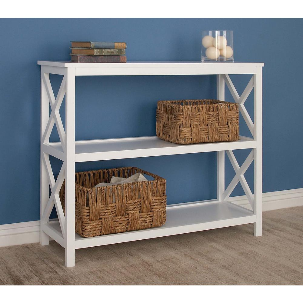 32 in. x 40 in. 3-Tier Wooden Shelving Unit in White
