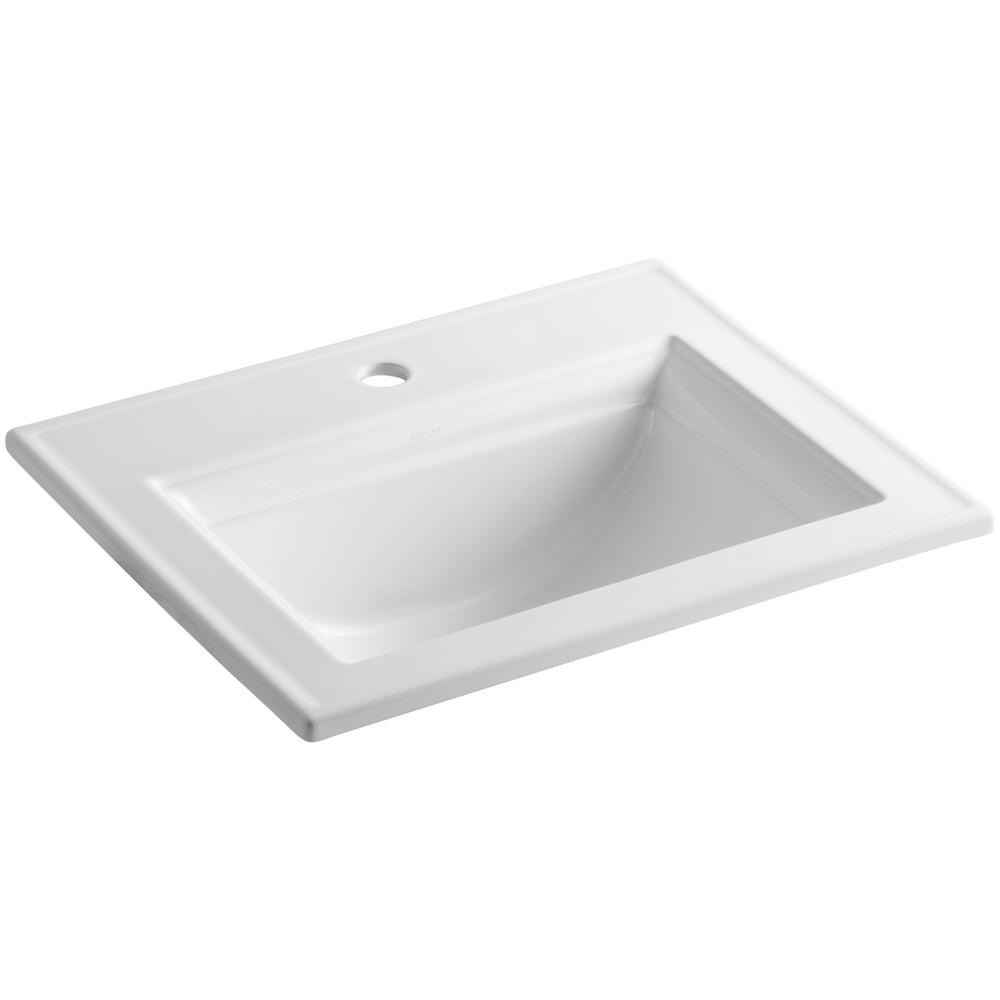 Memoirs Stately Drop-In Vitreous China Bathroom Sink in White with Overflow