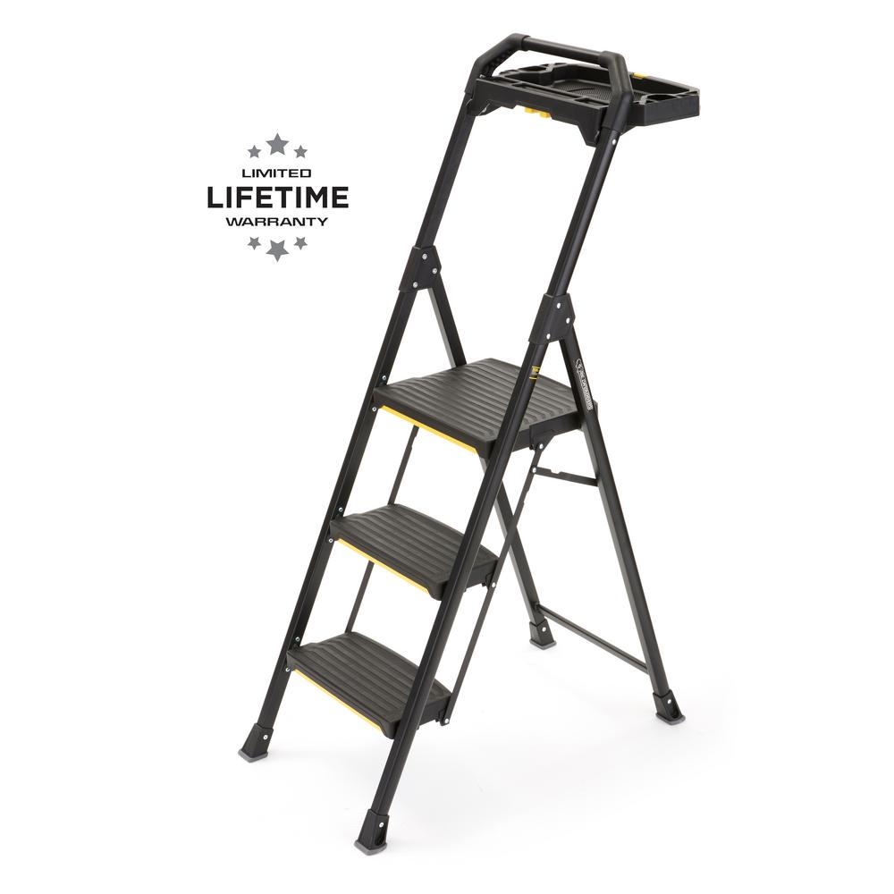 Gorilla Ladders 3-Step Pro-Grade Steel Project Ladder, 300