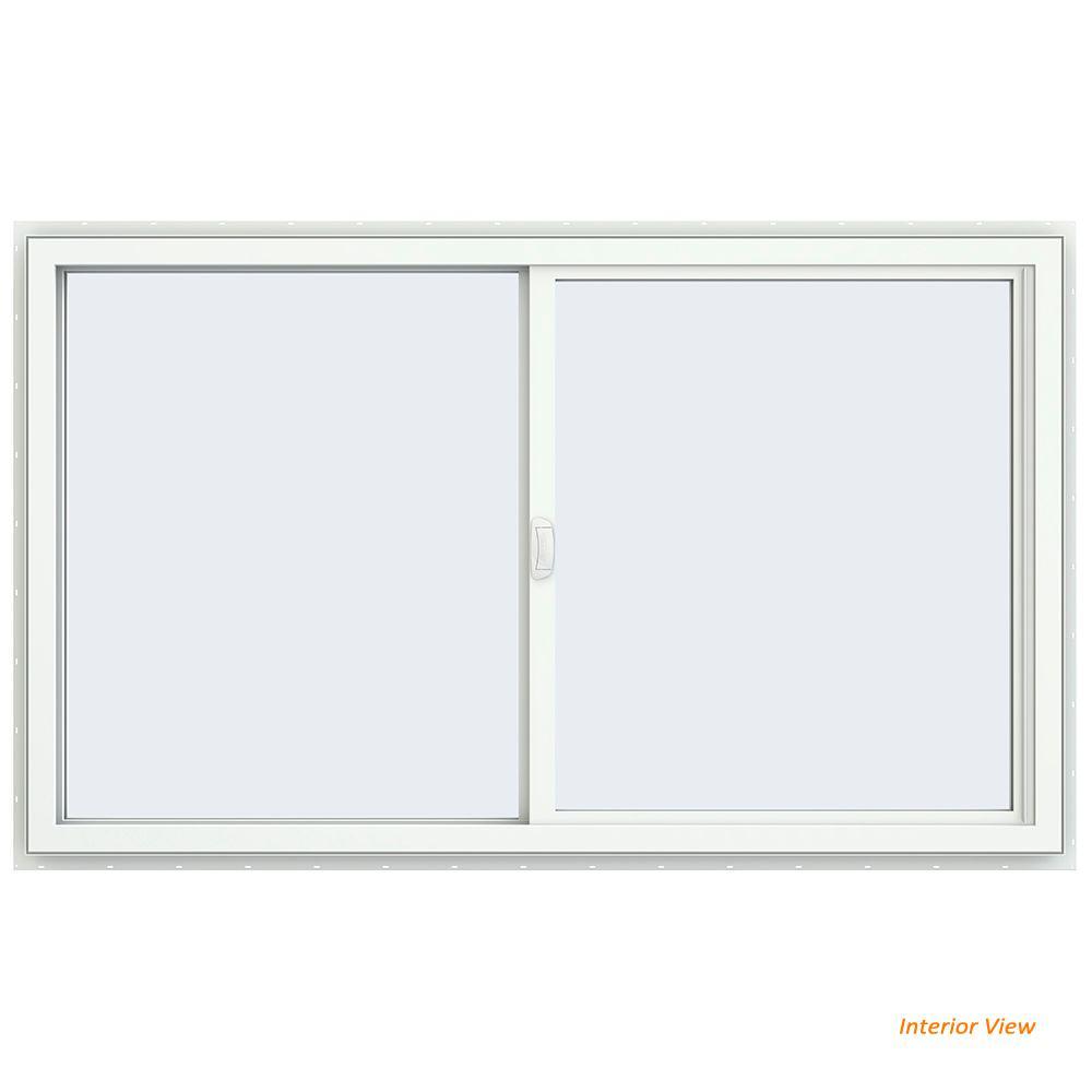 59.5 in. x 35.5 in. V-4500 Series Desert Sand Painted Vinyl Left-Handed Sliding Window with Fiberglass Mesh Screen