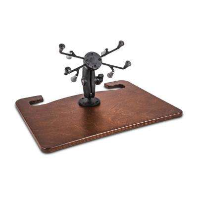 Wheelmate Extreme Mahogany with X-Grip Tablet Mount and Bluetooth Keyboard
