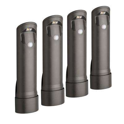 Wireless Bronze Motion Sensing Outdoor Integrated LED Pathway Lights (4-Pack)