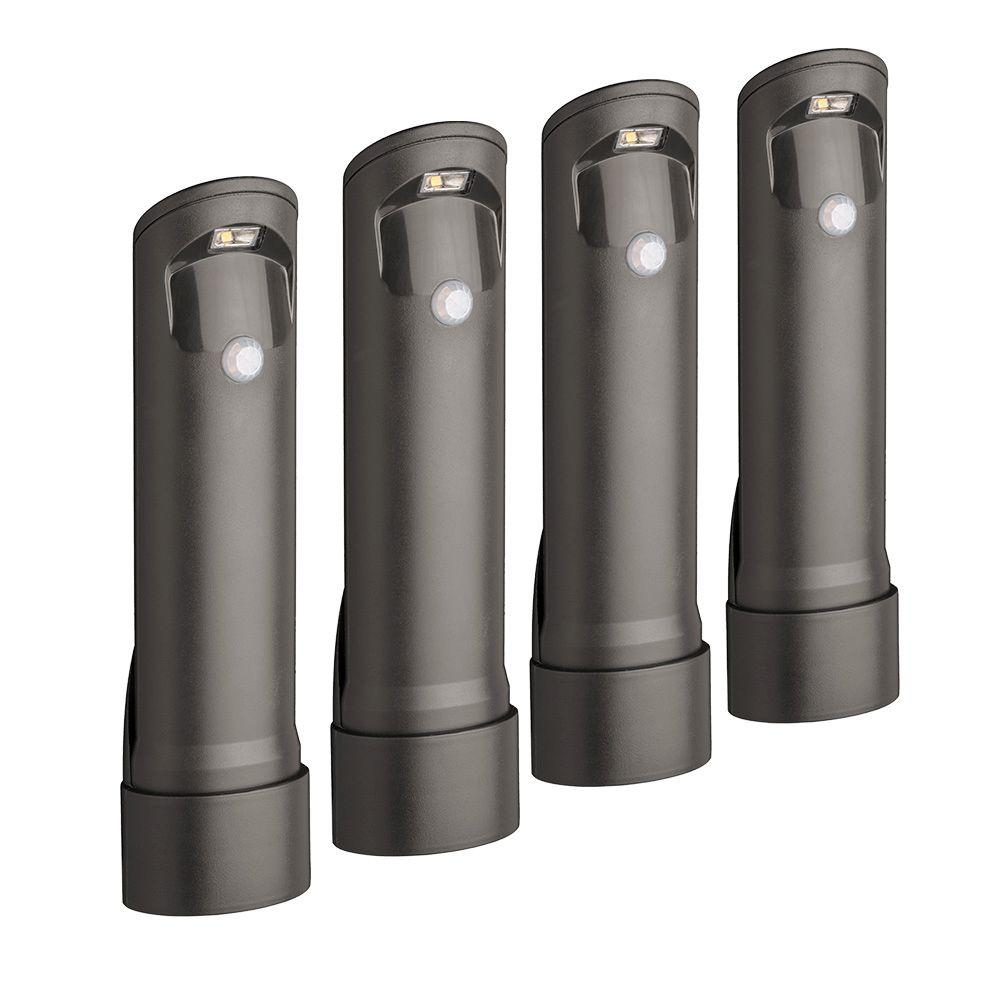 Mr Beams Wireless Bronze Motion Sensing Outdoor Integrated Led Pathway Lights 4 Pack