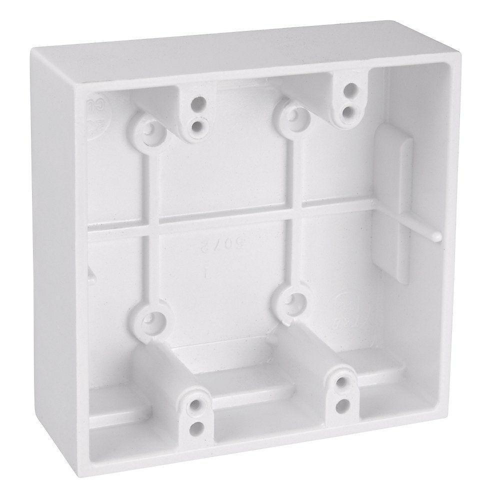 Carlon 2-Gang 23.8 cu. in. White Phenolic Surface Mount Box-5072 ...