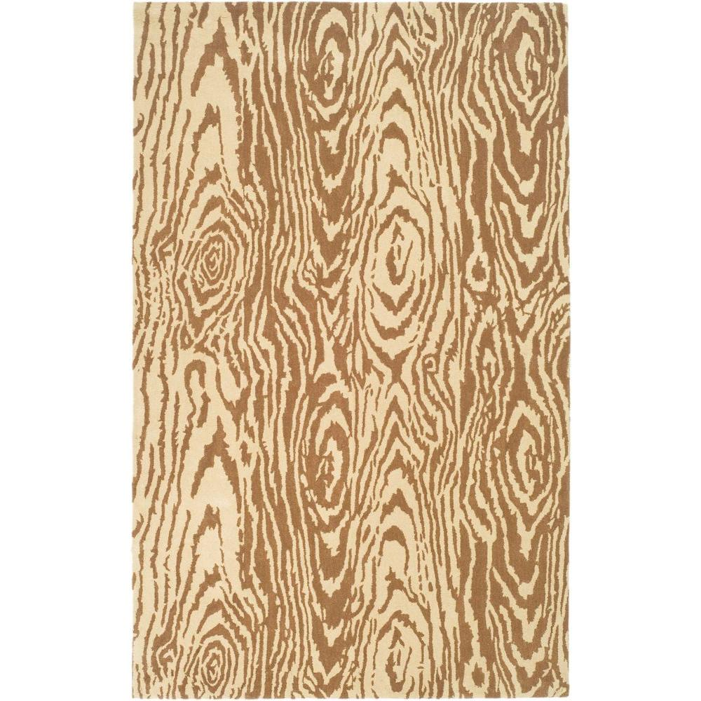 Martha Stewart Living Layered Faux Bois Sequoia 4 ft. x 6 ft. Area Rug