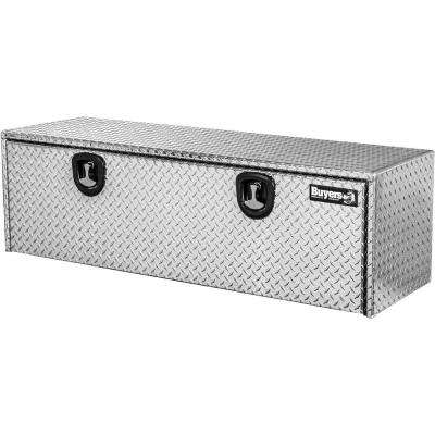 60 in. Aluminum Recessed Door Underbody Tool Box with T-Handle Latch