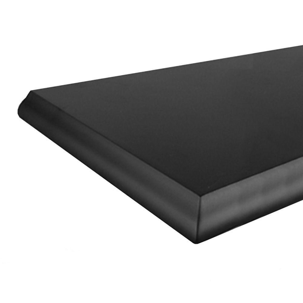 Knape & Vogt 8 in. x 36 in. Black Classic Edge Decorative Shelf