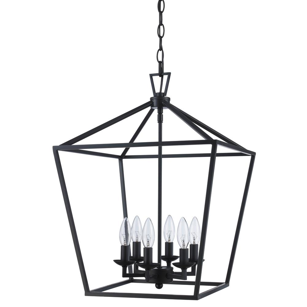 Bel Air Lighting Lacey 6-Light Rubbed Oil Bronze Pendant