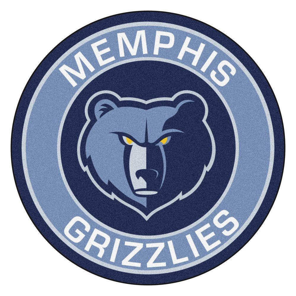 Fanmats Nba Memphis Grizzlies Blue 2 Ft X 2 Ft Round