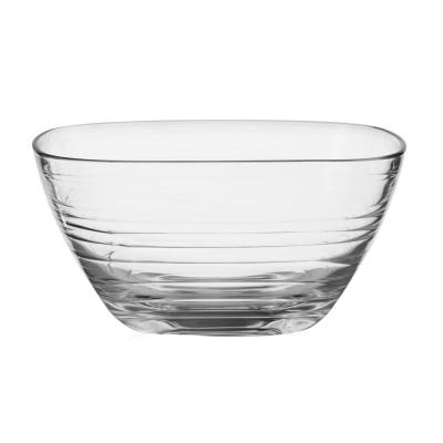 Aviva 5.5 in. 6-Piece Clear Glass Small Wave Side Bowl Set