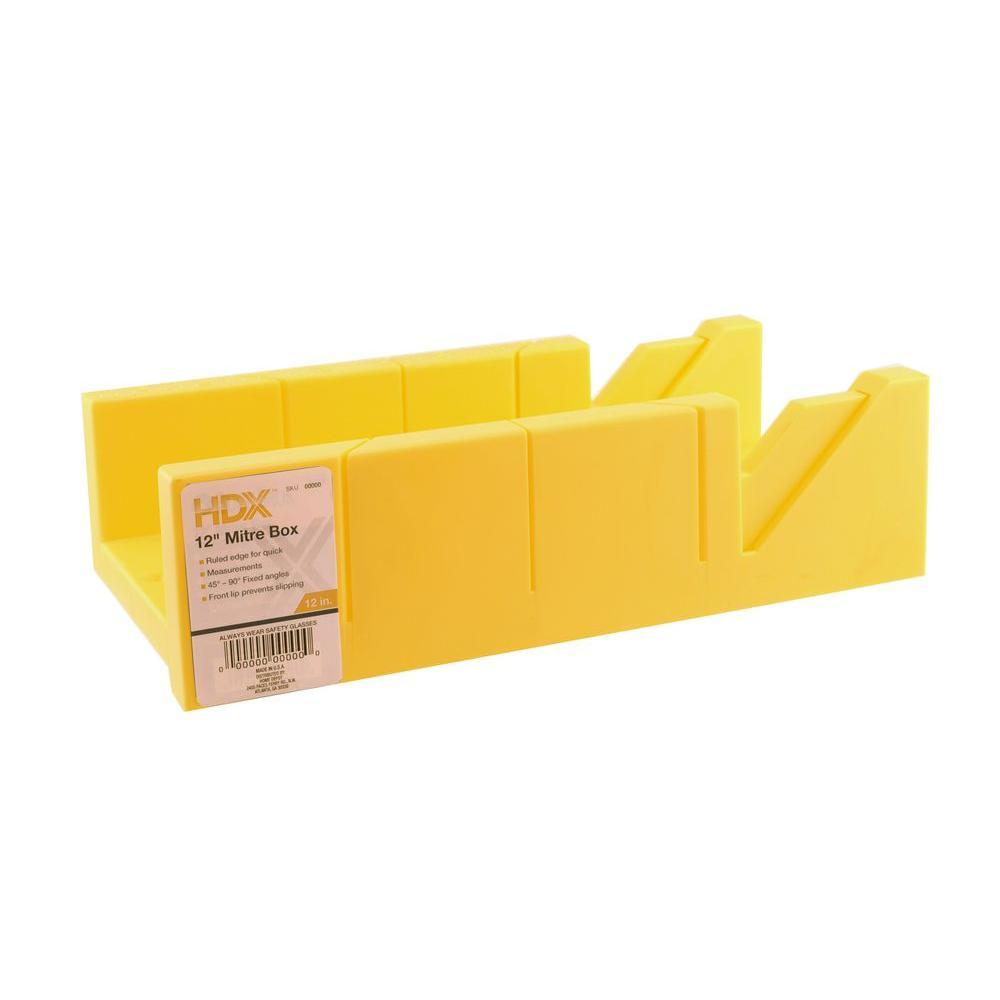 HDX 12 in. Plastic Miter Box