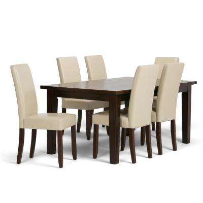 Acadian 7-Piece Satin Cream Dining Set