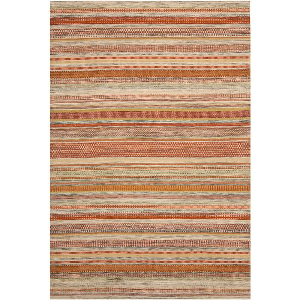Safavieh Striped Kilim Beige 5 Ft X 8 Area Rug