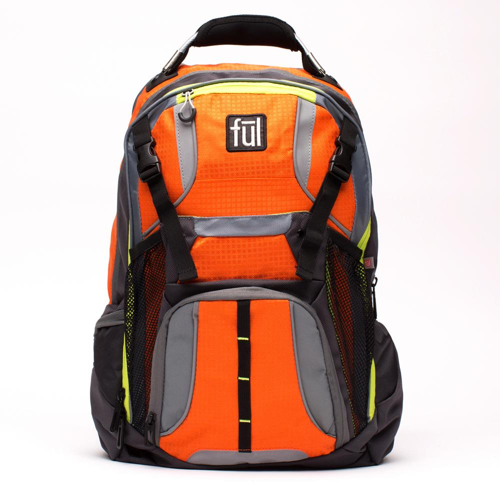 Hexar Padded Laptop Backpack fits up to 17 in. Orange Lap...