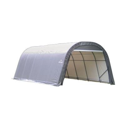 ShelterCoat 12 ft. x 28 ft. Wind and Snow Rated Garage Round Gray STD