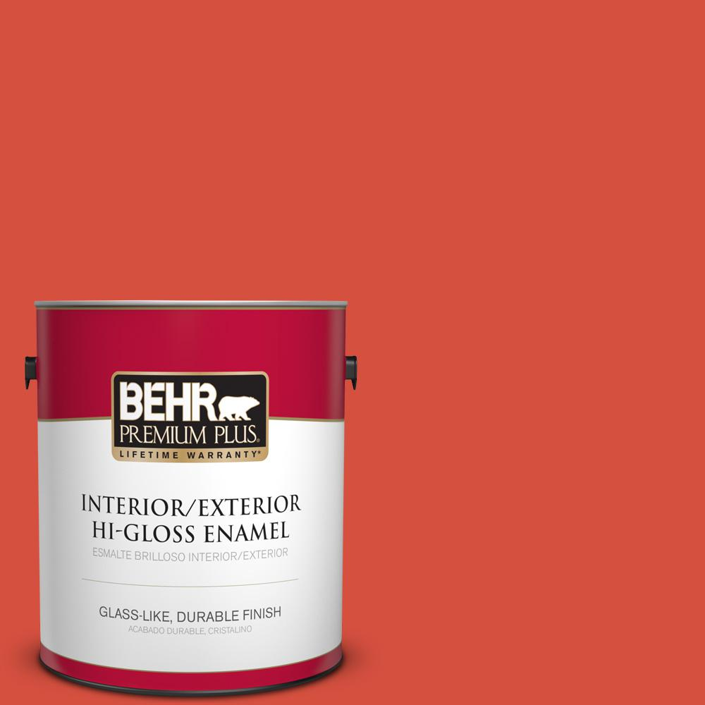 1 gal. #T18-12 Spirit Warrior Hi-Gloss Enamel Interior/Exterior Paint