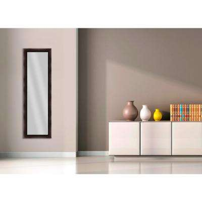 51.5 in. x 15.5 in. Espresso Framed Mirror