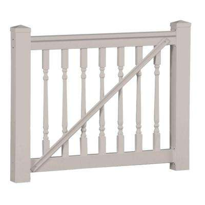 Delray 42 in. x 60 in. Vinyl Tan Gate Rail Kit