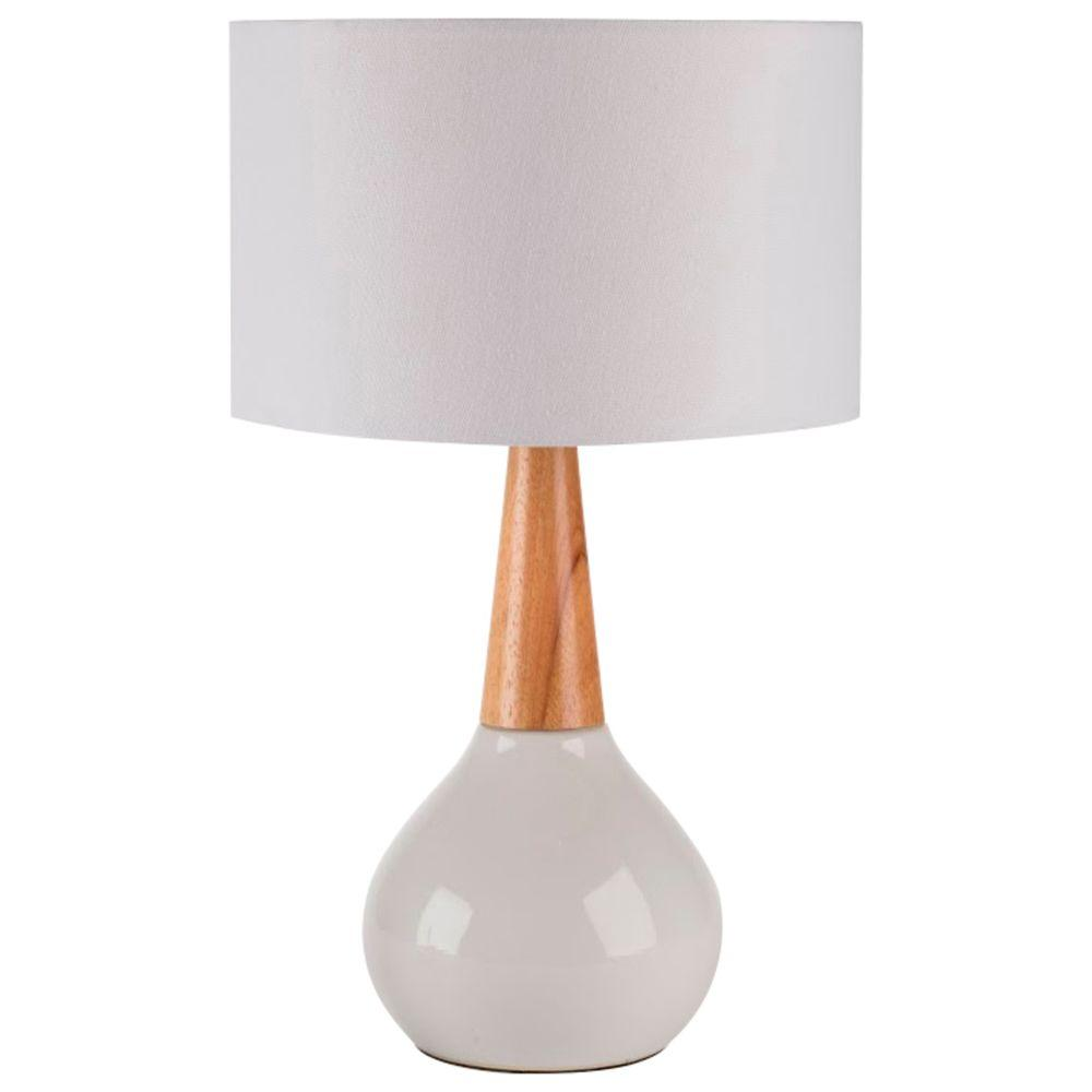 Titan lighting woven 26 in white and wood tone ceramic table lamp white indoor table lamp mozeypictures Image collections