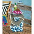 Dolphin Cove 21 in. H Sculptural Polyresin Outdoor Side Table