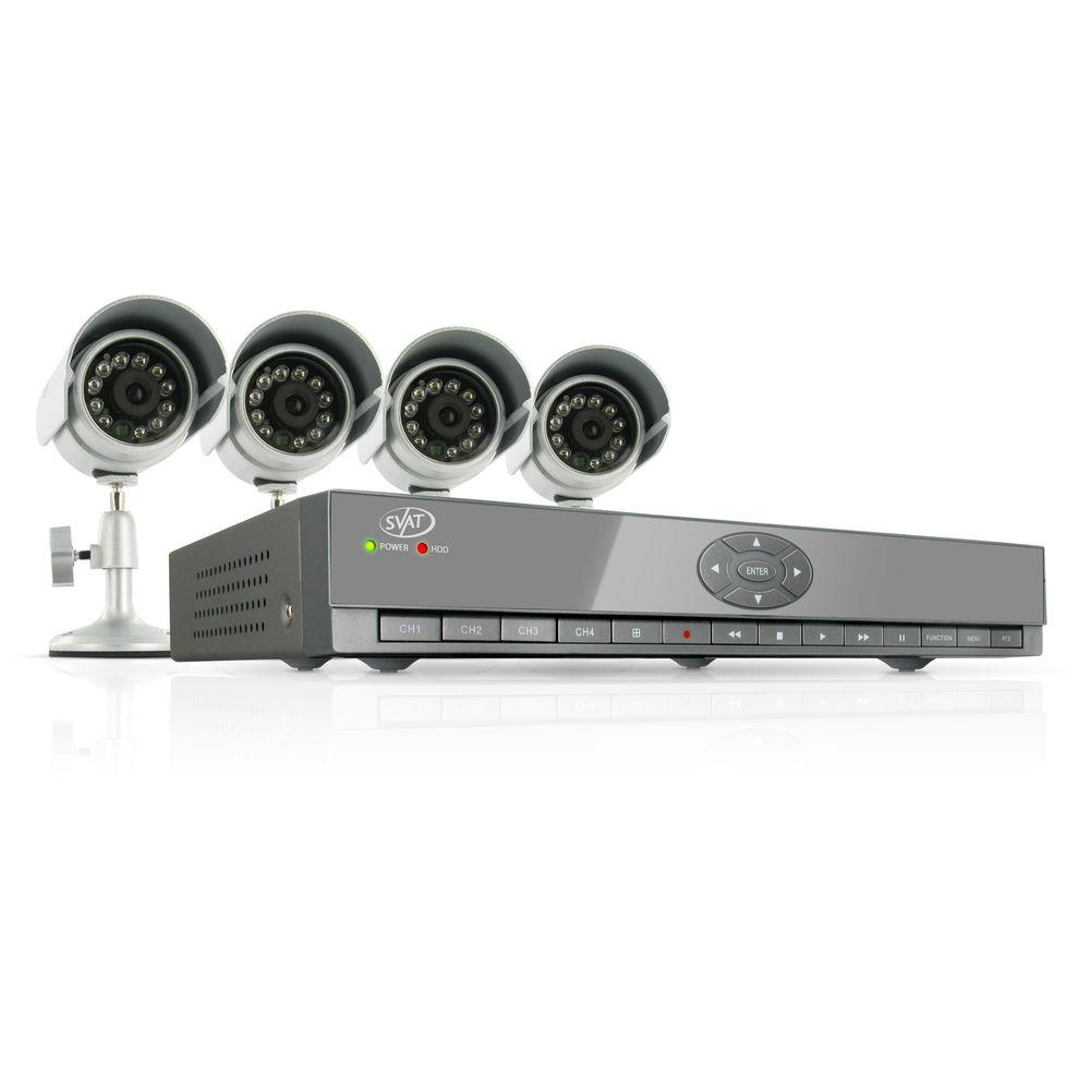 SVAT Electronics 4 Ch.500GB Smart Security System with 4 Indoor/Outdoor 480TVL Night Vision Cameras-DISCONTINUED