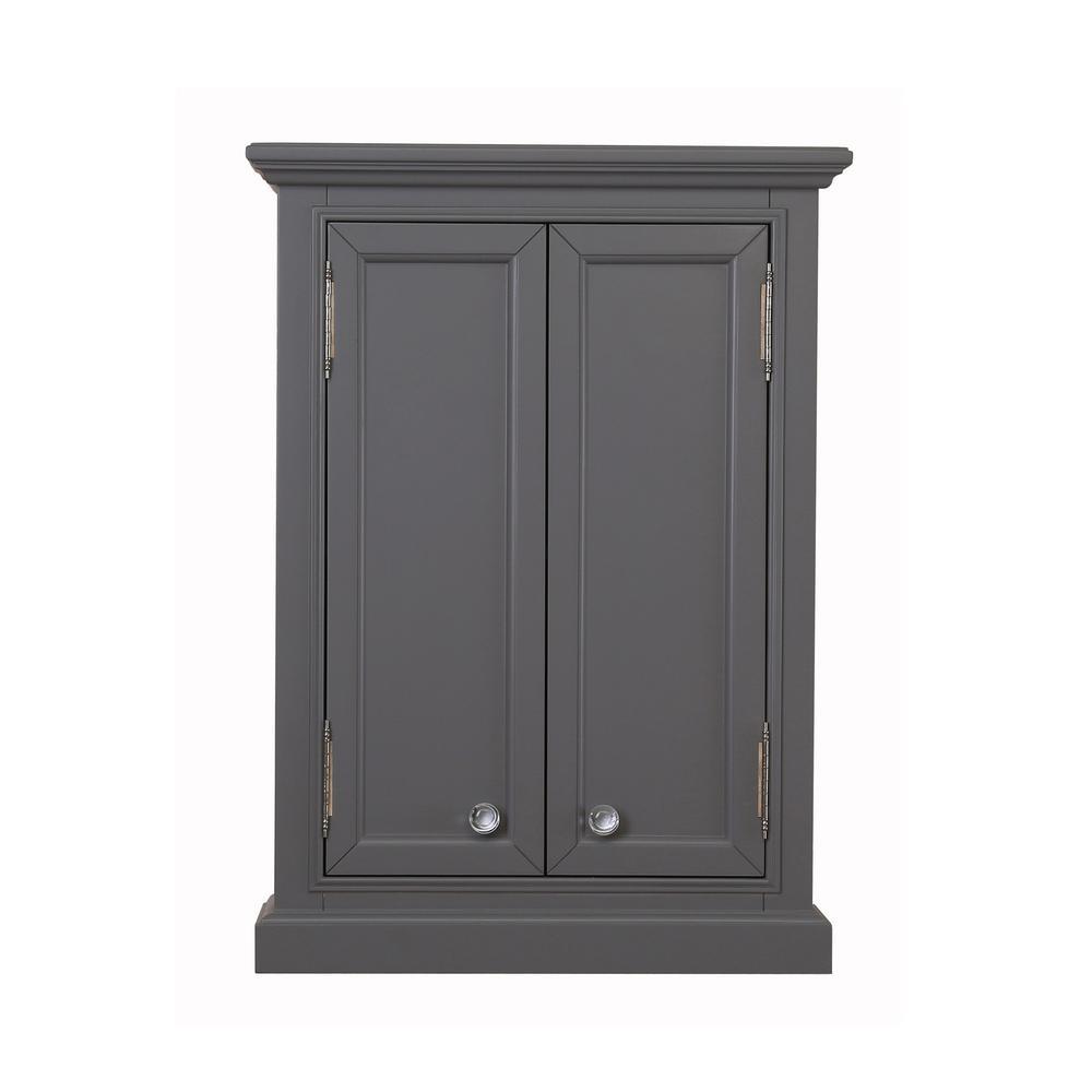 Derby 24 in. W x 33 in. H x 8 in. DBathroom Storage Toilet Topper In Cashmere Grey